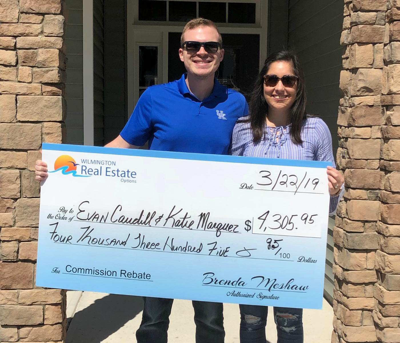 Home Buyer Rebate for Evan Caudill and Katie Marquez