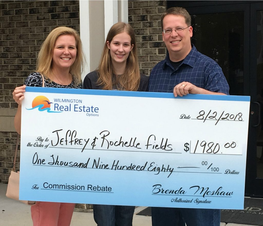Home Buyer Rebate for Jeff and Rochelle Fields