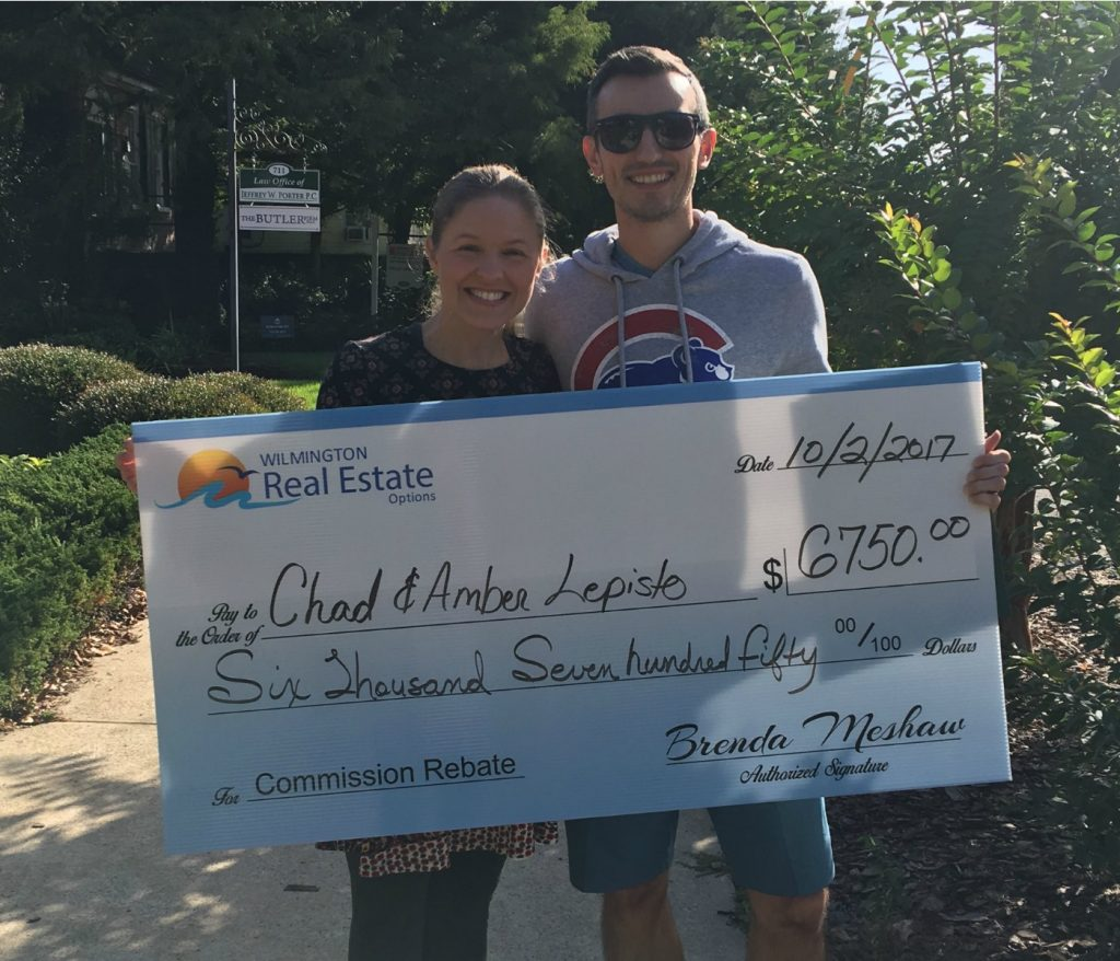 Home Buyer Rebate for Chad and Amber Lepisto