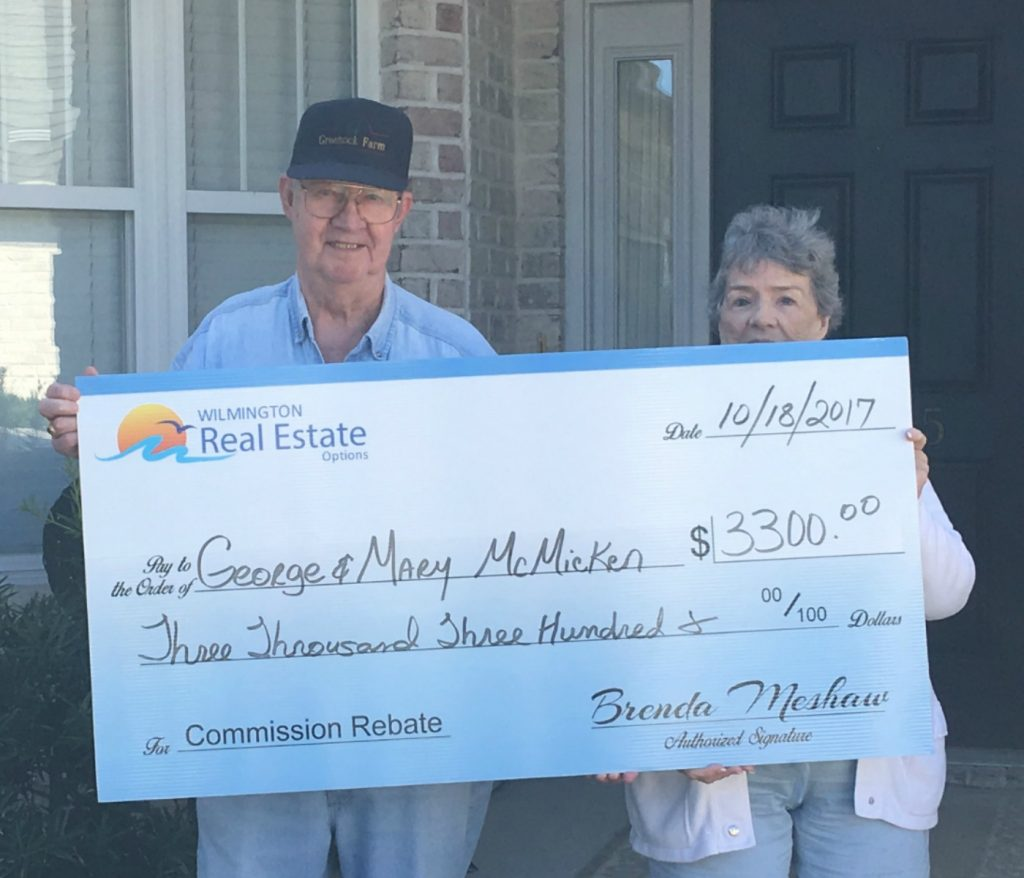 Home Buyer Rebate for George and Mary McMicken.